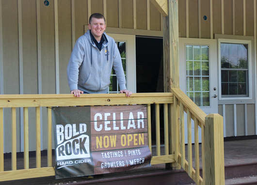 Lindsay Dorrier at the new Bold Rock Cellar at Chiles Peach Orchard
